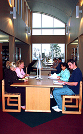 UA-PTC students in the library