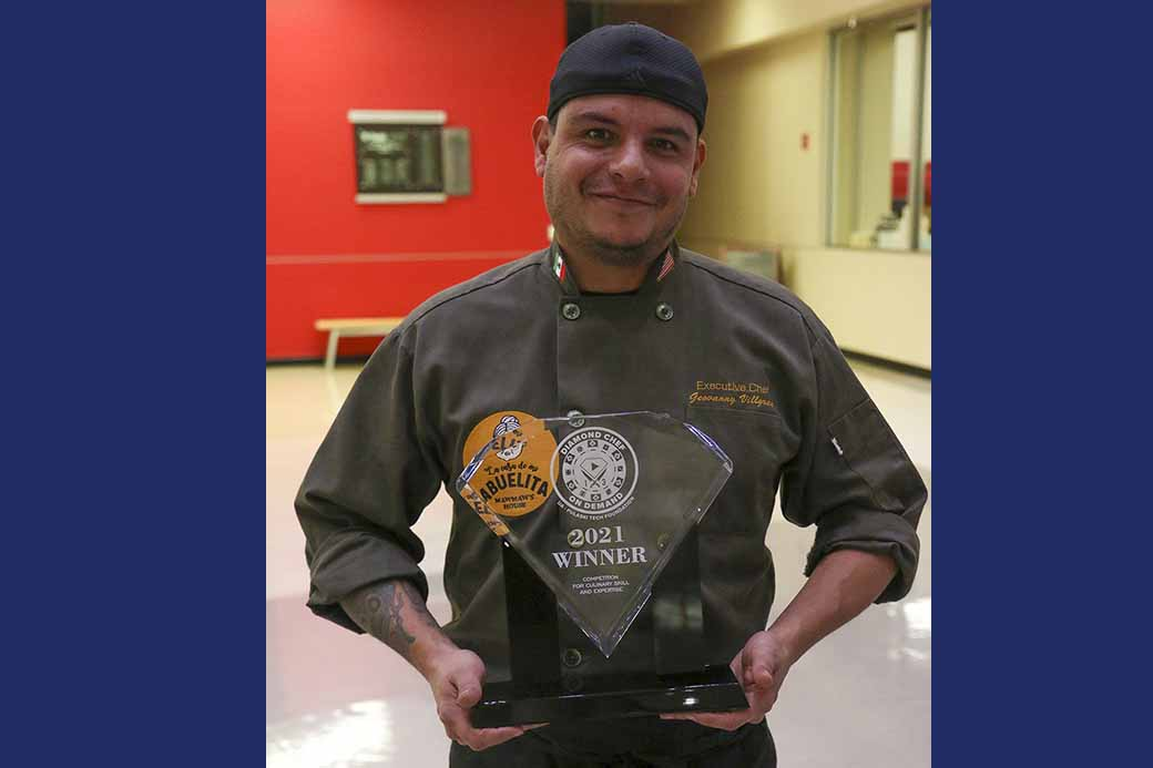 Chef Geovanny Villagran earns Diamond Chef title