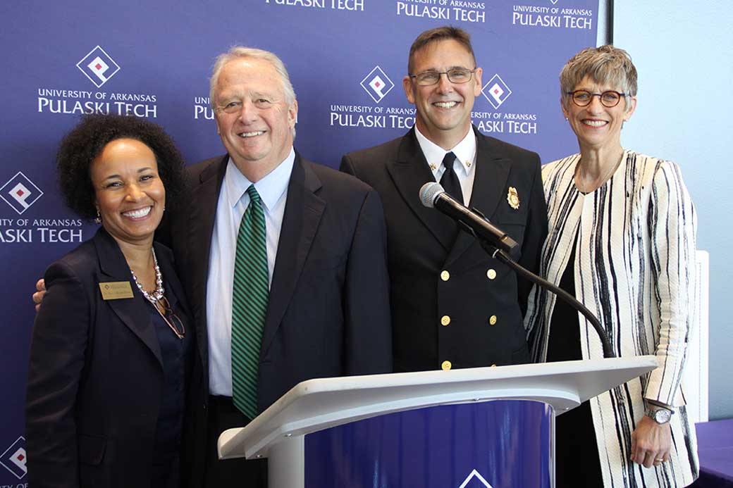 College marks emergency medical training partnership with NLR Fire Department