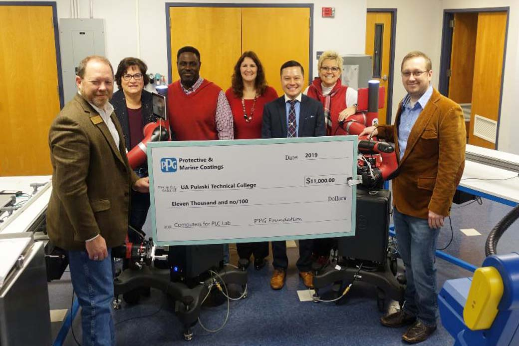PPG Foundation grants $11,000 to UA-PTC for workforce development