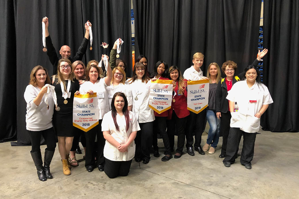Sciences, Cosmetology students excel at SkillsUSA