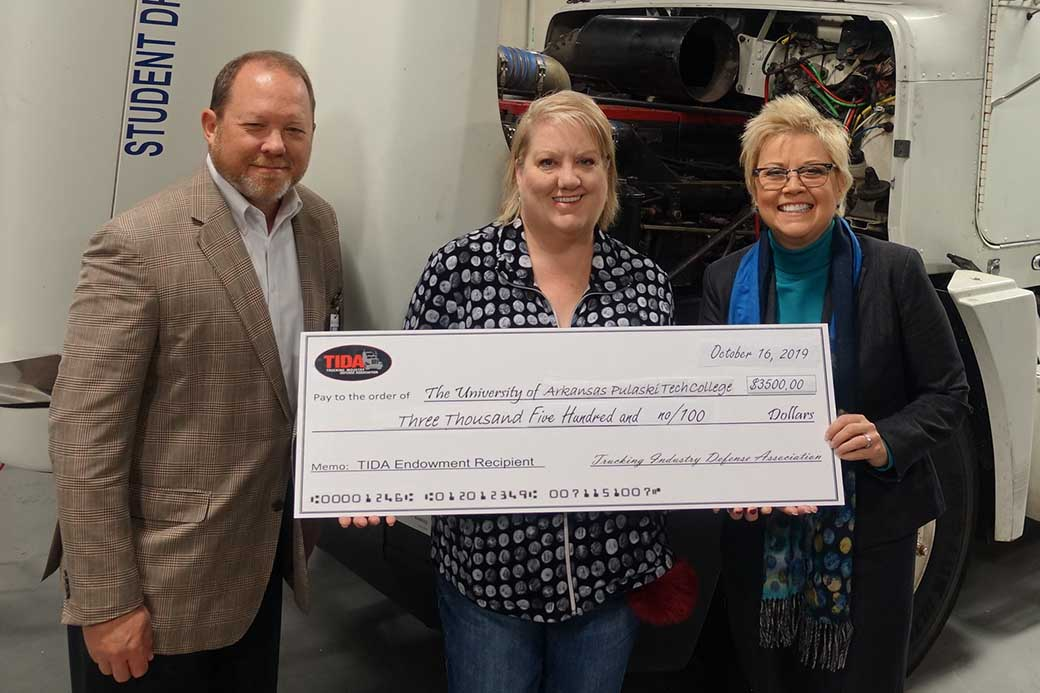 UA-PTC Foundation accepts award from trucking industry group