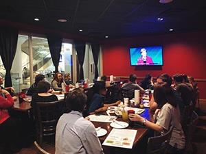 UA-PTC Students at Democratic Debate Watch Party